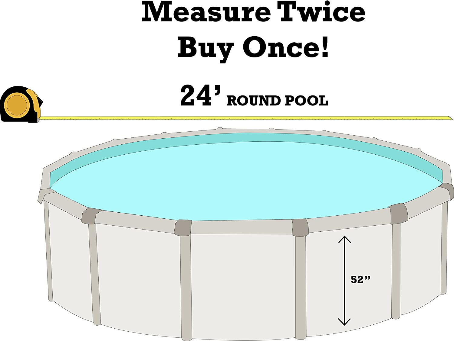 Designed for Steel Sided Above-Ground Swimming Pool SmartLine Stone Harbor 15-Foot-by-24-Foot Oval Liner 20 Gauge Virgin Vinyl UniBead Style Universal Gasket Kit Included 48-Inch Wall Height