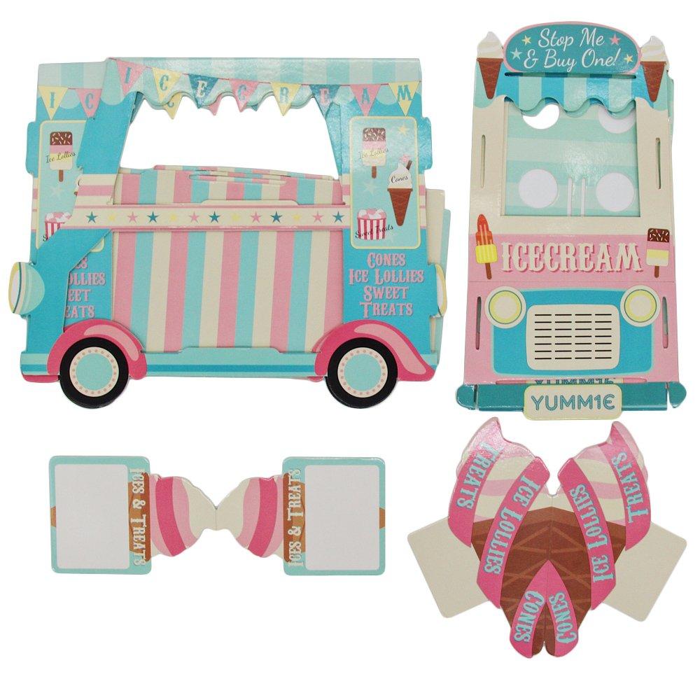 Cupcake Stand 3 pisos de papel Street Stalls helado crema alimentos Carro para decoración de fiesta: Amazon.es: Hogar