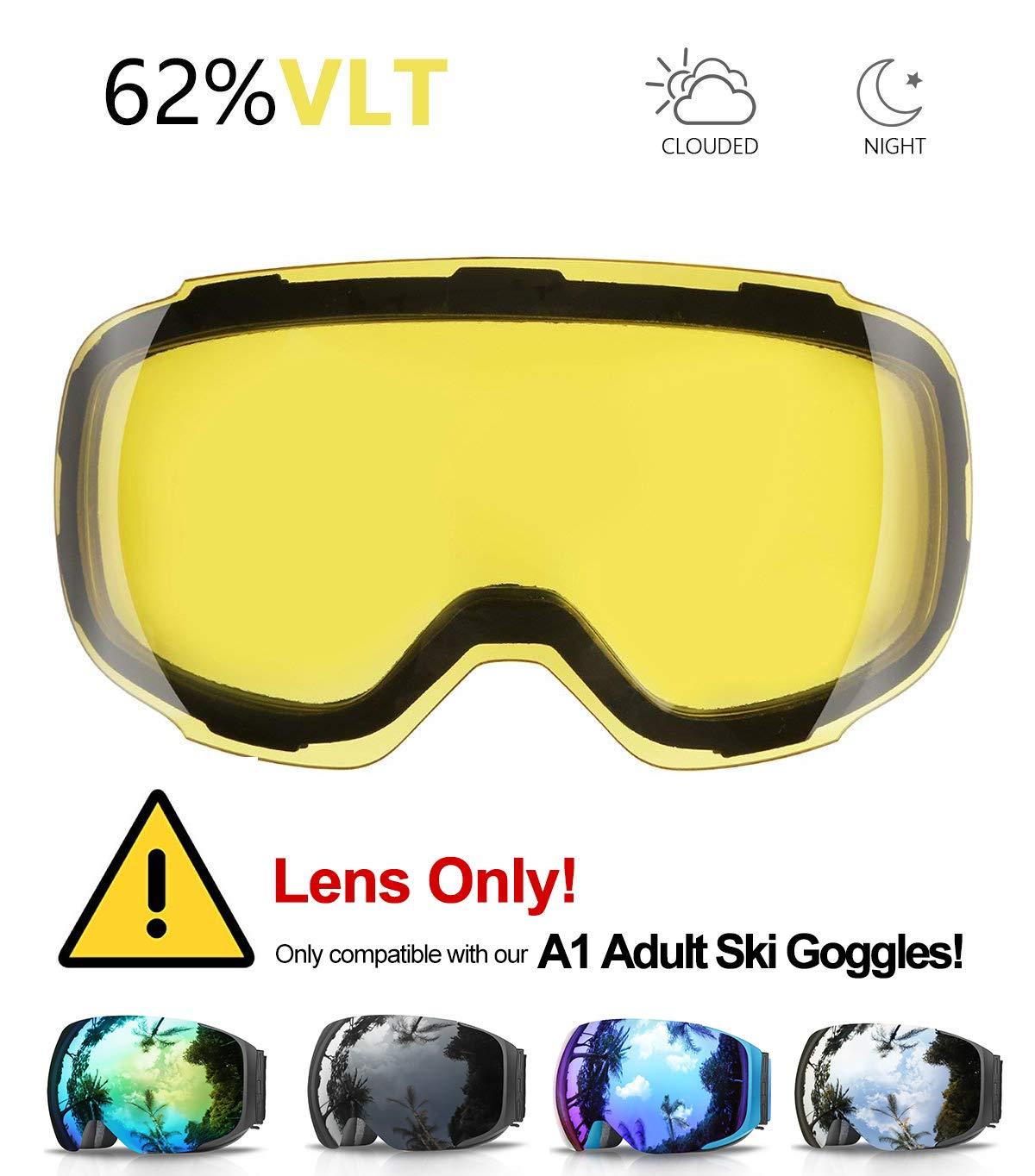 Gafas de Esquí, eDriveTech Máscara Gafas Esqui Snowboard Nieve Espejo para Hombre Mujer Adultos Juventud Jóvenes Chicos Chicas Anti Niebla Gafas de Esquiar ...