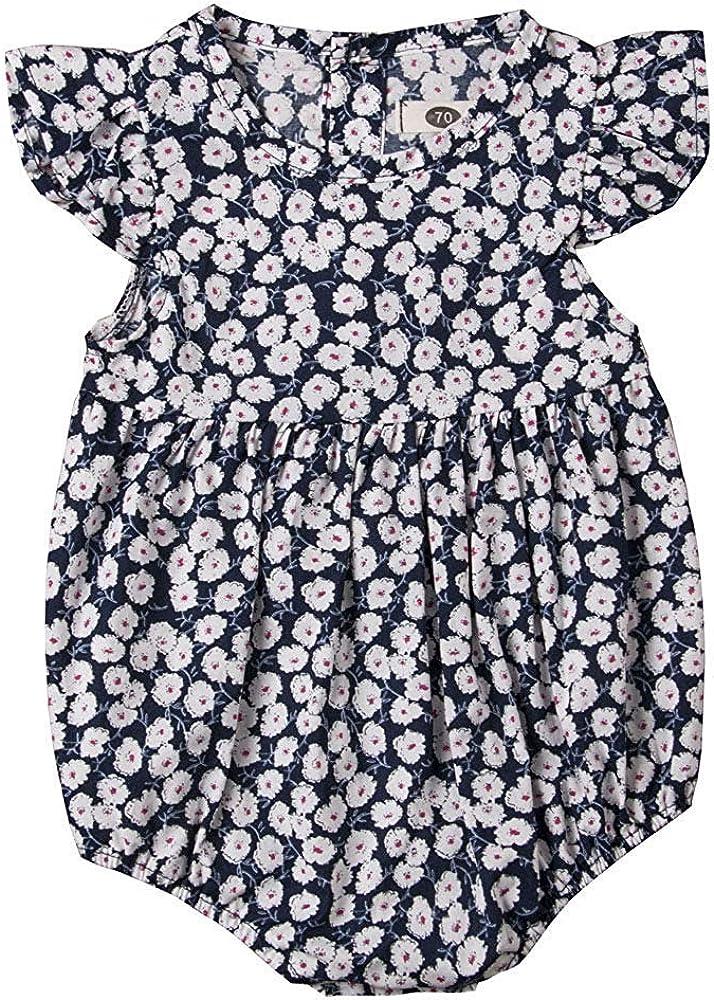 Amazon.com: Traje de bebé para recién nacido, diseño floral ...