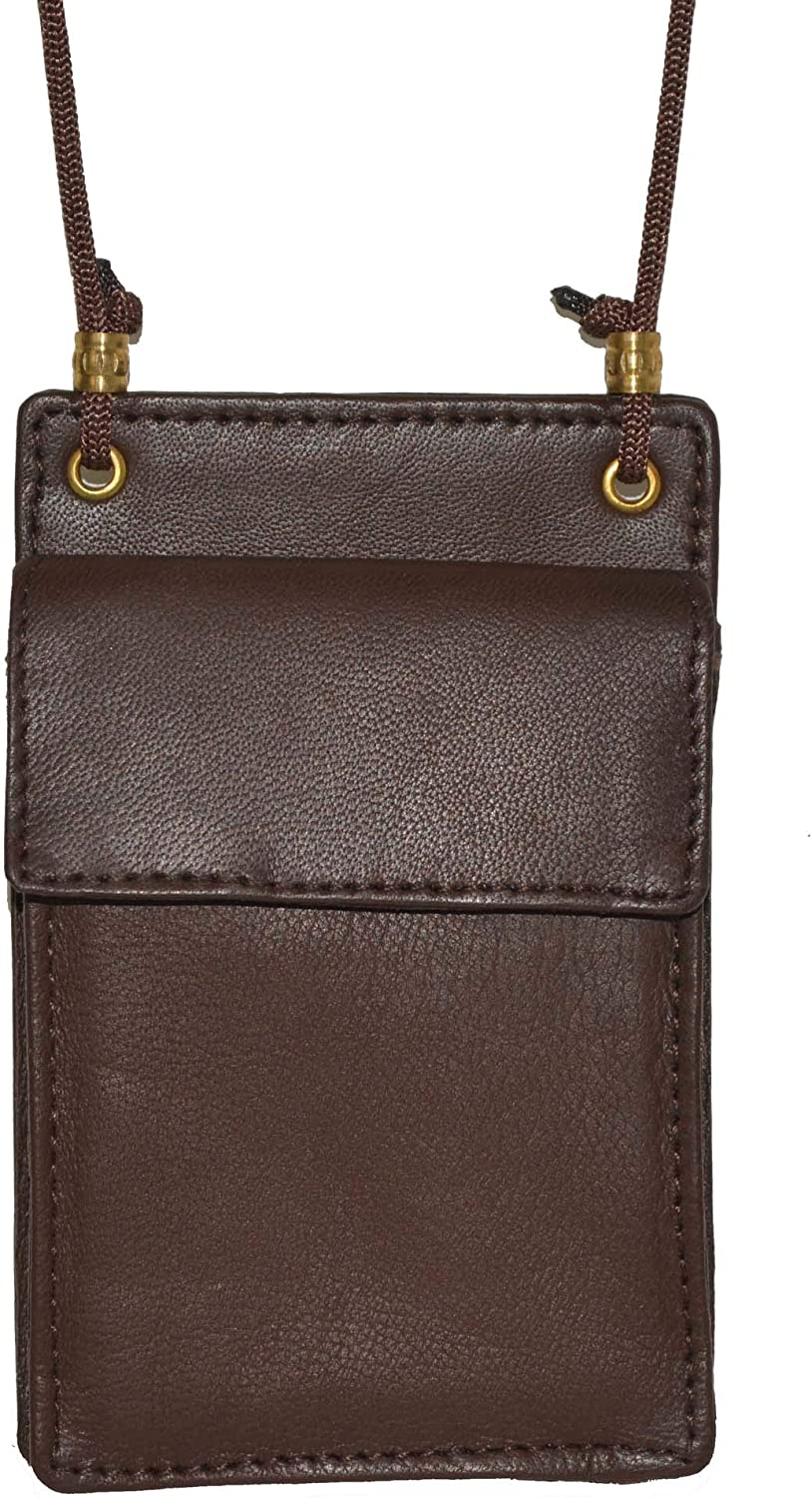Mw561rbk Black Leather Id and Business Card Holder Neck Band