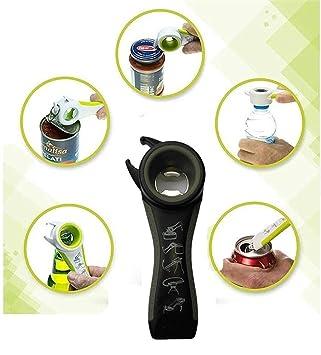 Jar abridor de tapa, Yaker puede y parte superior de la botella abridor de abridor de tarros - abridor de botellas - abrelatas de goma agarre PP botella y ...