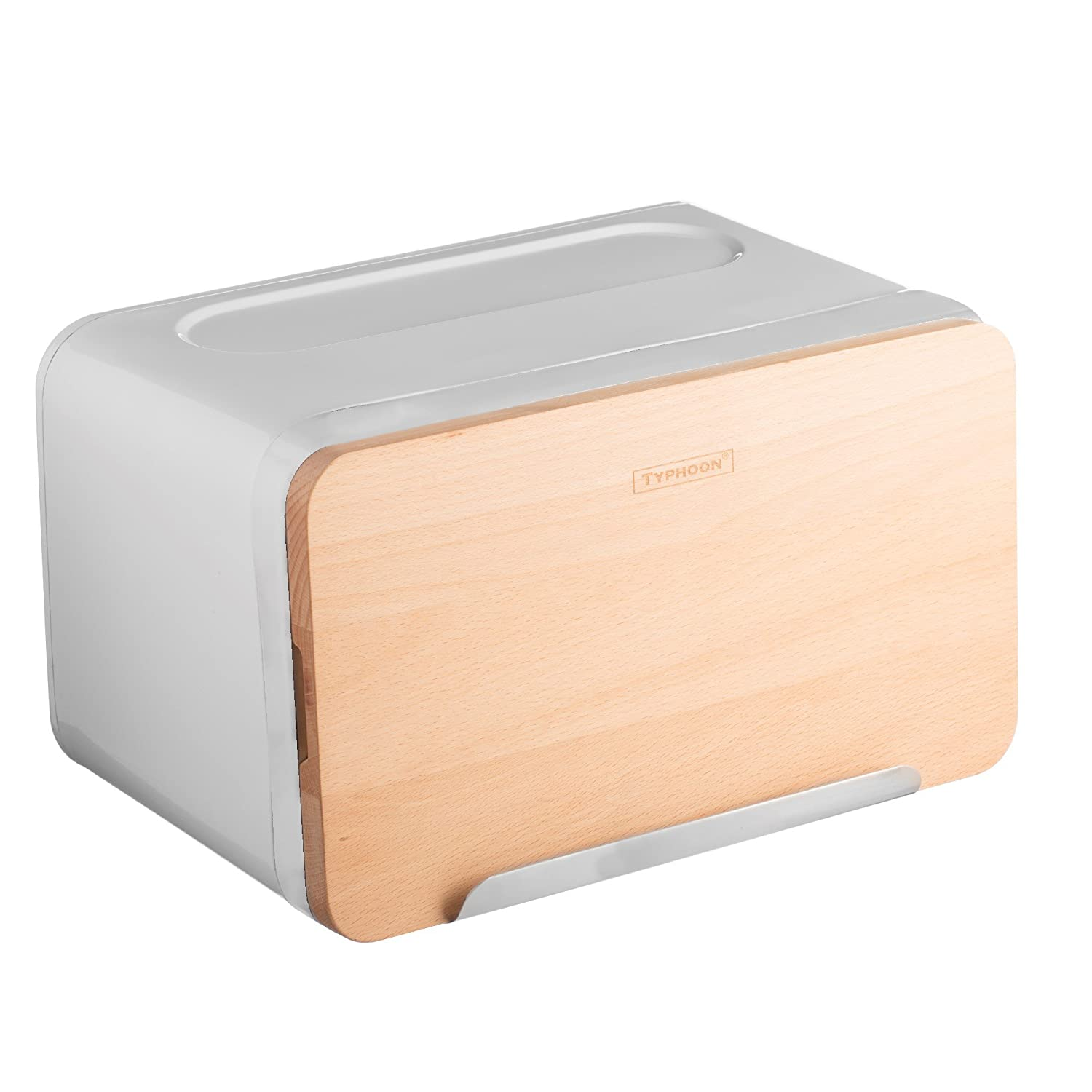 Hudson White Bread Box With Wood Chopping Board Lid TYPHOON 1400.104