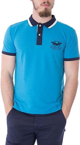 BEVERLY HILLS POLO CLUB - Camiseta deportiva - para hombre azul ...