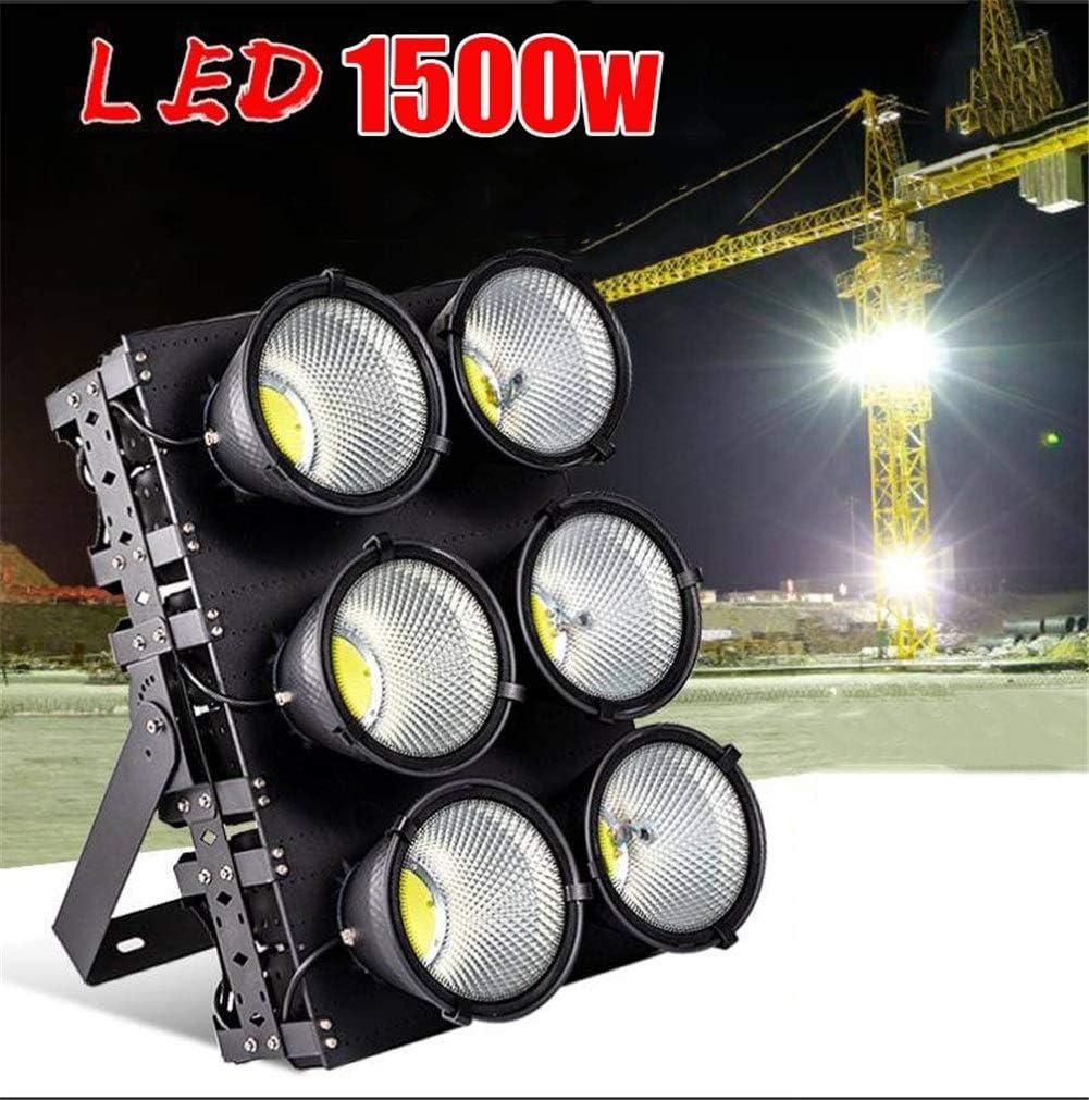 HJWL Proyectores Led Exterior,Super Brillante Luces de Seguridad Patio al Aire Libre Impermeable Destacar Almacén de fábrica Foco 1000W/1500W Proyector LED