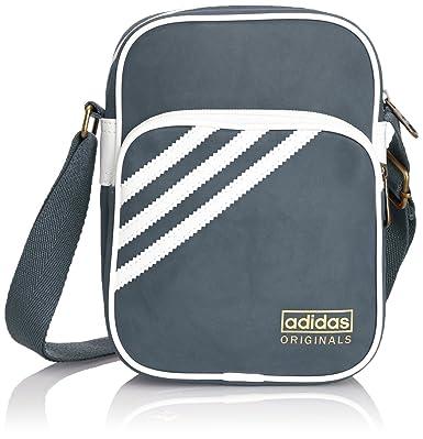 ADIDAS ORIGINALS AC ADICOLOR 3S MINI SIR SUEDE BAG SHOULDER BAG GREY -  Grey 9f087fbe5c05f
