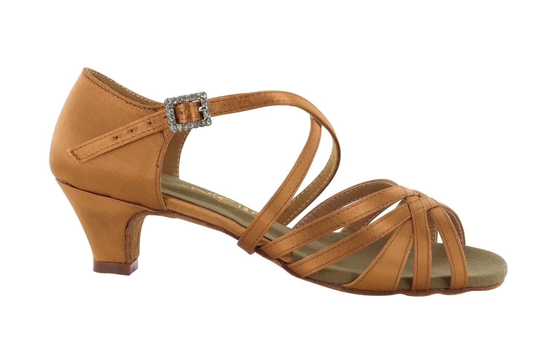 Scarpa da Ballo 5 Fasce in Raso Flesh con Incrocio sulla Caviglia, Colore Flesh Tacco 3,5 cm Slim