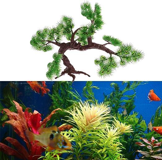 30cm simulación artificial plantas de agua planta de acuario peces tanque decoración árbol de pino