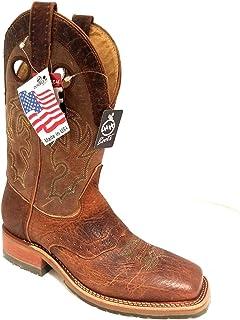 c7841d93c63 Amazon.com | Double H Men's Rust Snakebite Saddlevamp Square Toe ...