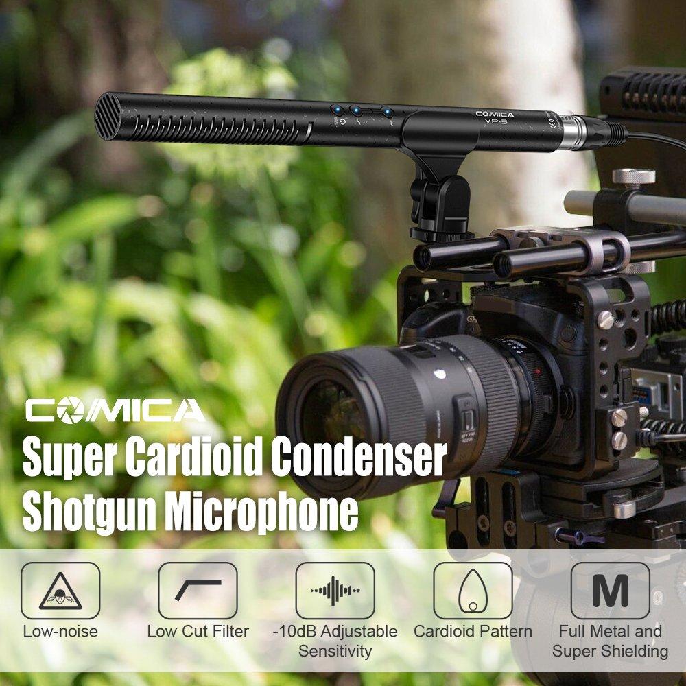 Bulufree Micrófono de Escopeta COMICA CVM-VP3 Vídeo de entrevista ...