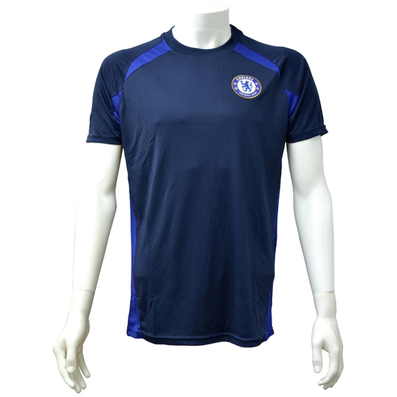 Chelsea FC Mens Official Navy Panel T-Shirt UTSG10800_1