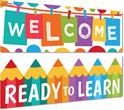 Bulletin Board and Wall Decor for Elementary and Middle School Sproutbrite Spanish Posters Classroom Banner for Toddlers Preschoolers /& Kids Decorations