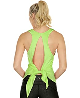 efccd1fa81387 icyzone Débardeur de Sport Femme - Tops sans Manches Gilet Dos Ouvert  Exercice Yoga Shirt
