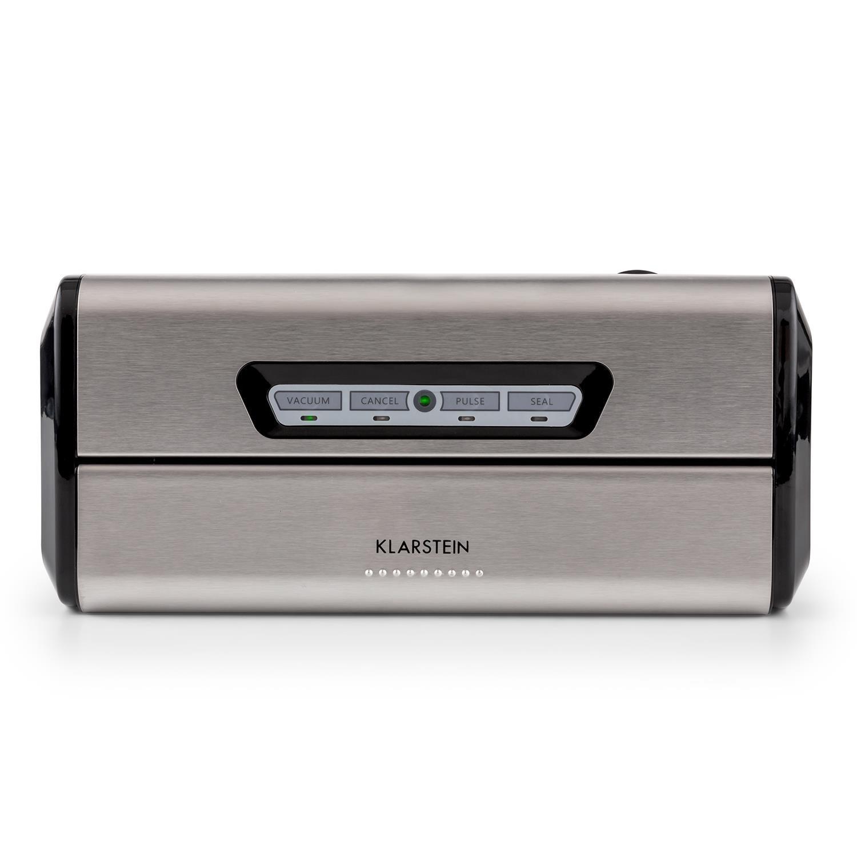 Klarstein FoodLocker • Envasador al vacío • Máquina de vacío • 16 L/min. • Soldadura de 3 mm • Control táctil • Automático o manual • 10 x bolsas de vacío ...