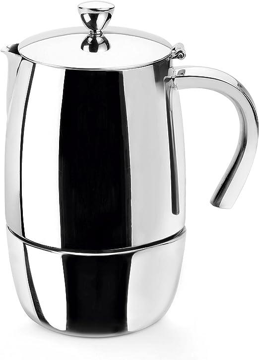 Lacor Hyperluxe Cafetera 4 Tazas, Plata: Amazon.es: Hogar