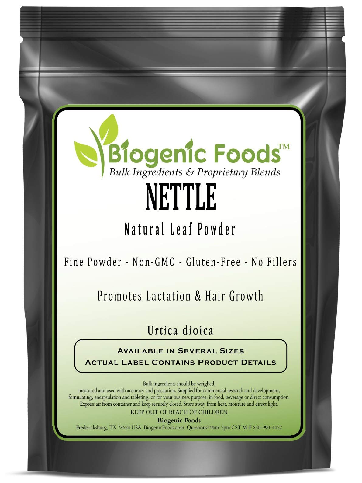 Nettle - Natural Leaf Fine Powder (Urtica dioica), 5 kg by Biogenic Foods (Image #1)
