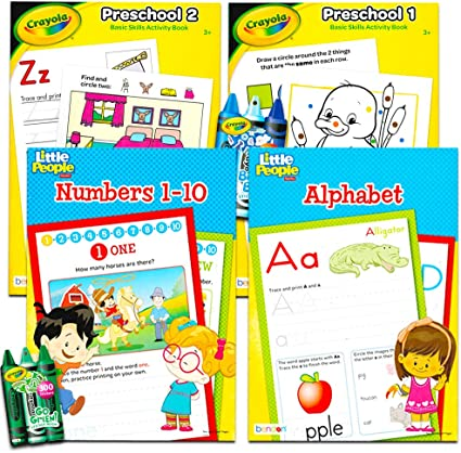 Crayon Color /& Learn Numbers Educational Activity Set for Kids Art /& Craft