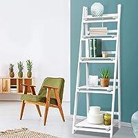 Artiss 5-Tier Ladder Shelf Wooden Bookshelf Storage Rack Organiser, White