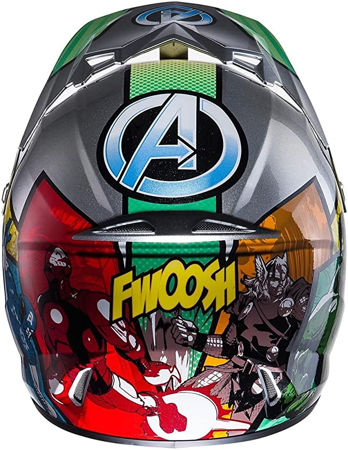 HJC Cross Casco Infantil clxy II Avengers Plata, M: Amazon.es: Coche y moto