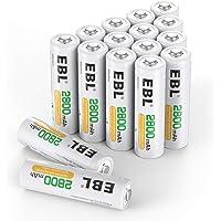 EBL AA oplaadbare batterijen 2800 mAh 16 stuks (type Ni-MH, geringe zelfontlading, voorgeladen) - batterijen AA…