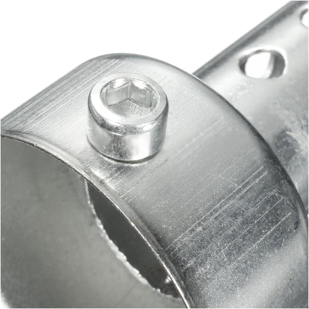XZANTE Silver Pot D/échappement de Moto Peut Ins/érer Silencieux Baffle DB Killer Silencer 42Mm X 80Mm
