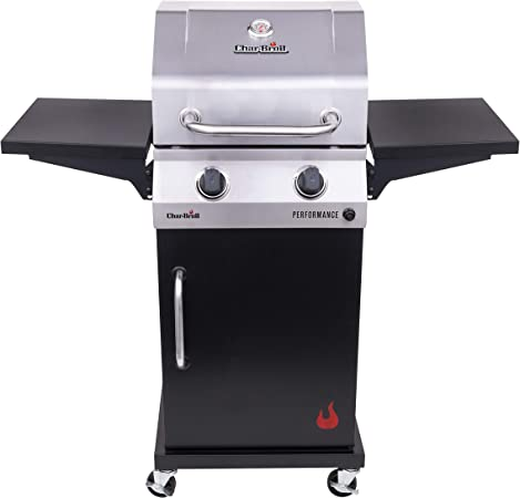 Char-Broil 463660021 Performance 2-Burner Cabinet-Style Liquid Propane Gas Grill, Stainless/Black