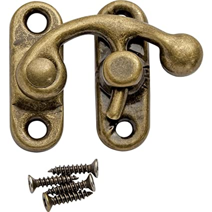 Decorative Swing Latch, Antique Brass - Decorative Swing Latch, Antique Brass - Cabinet And Furniture