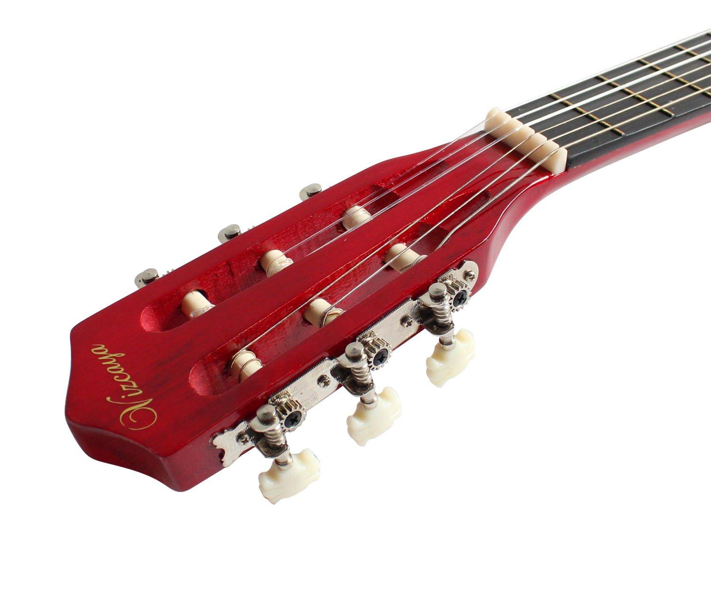 YMC guitarra clásica 1/2 tamaño 34 pulgadas cuerdas de nailon clásica - guitarra acústica, con bolsa de transporte y accesorios para principiantes ...