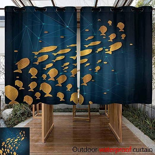 VIVIDX - Cortinas Transparentes para Exteriores – Elegantes Cortinas repelentes al Agua con Ojales para Interior/Exterior/pérgola sombreadas/persianas para Patio privacidad, Juego de 2: Amazon.es: Jardín