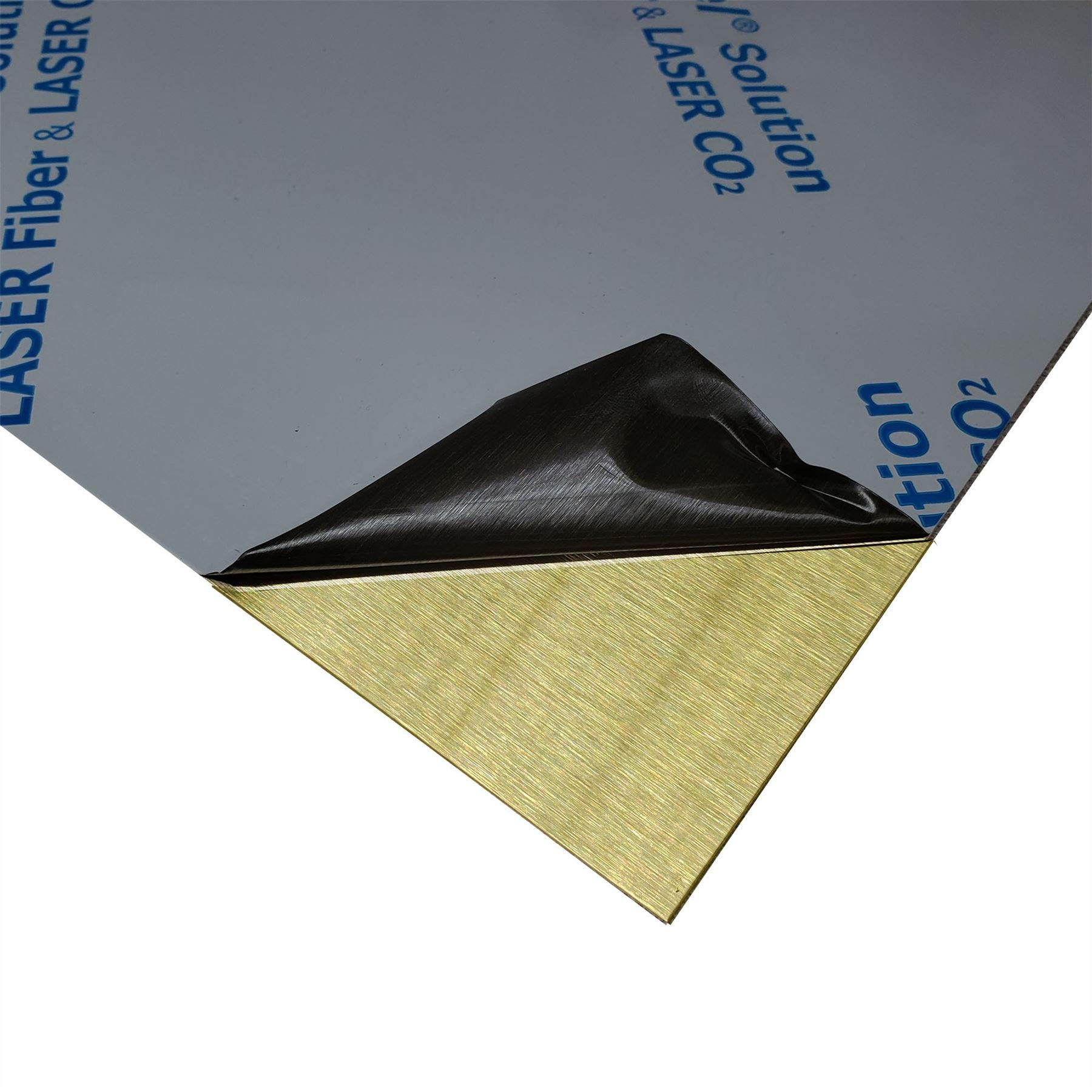 Online Metal Supply C260 Brass Sheet .050'' x 12'' x 24'' (Brushed Finish) by Online Metal Supply