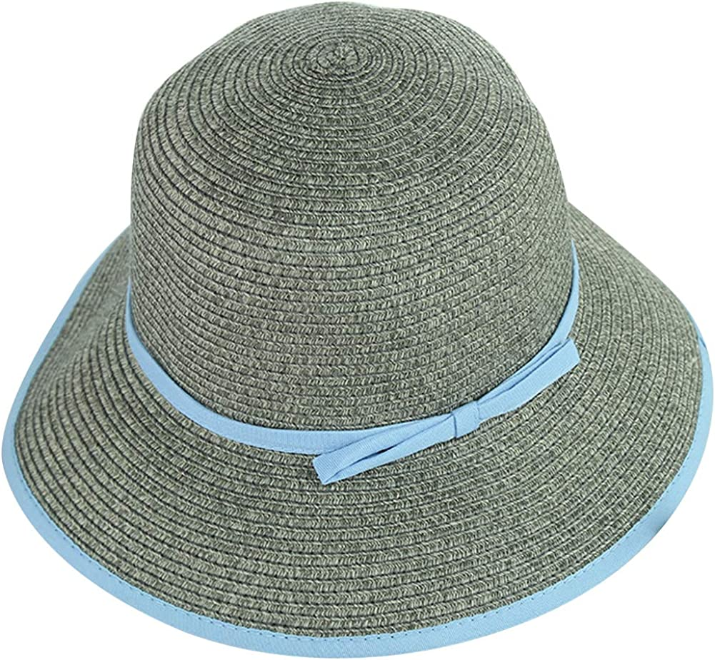ChenXi Store Women Floppy Sun Beach Straw Hats Wide Brim Packable Summer Cap