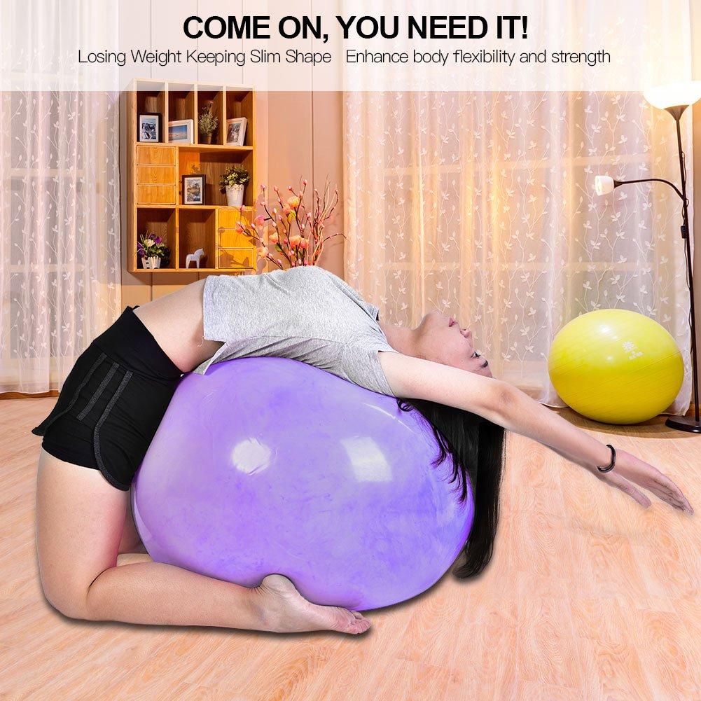 Lastgewicht 120 kg EBTOOLS 65cm Anti-Burst Gymnastikb/älle Yoga Ball Fitnessball mit Luftpumpe f/ür zu Hause und im Fitnessstudio