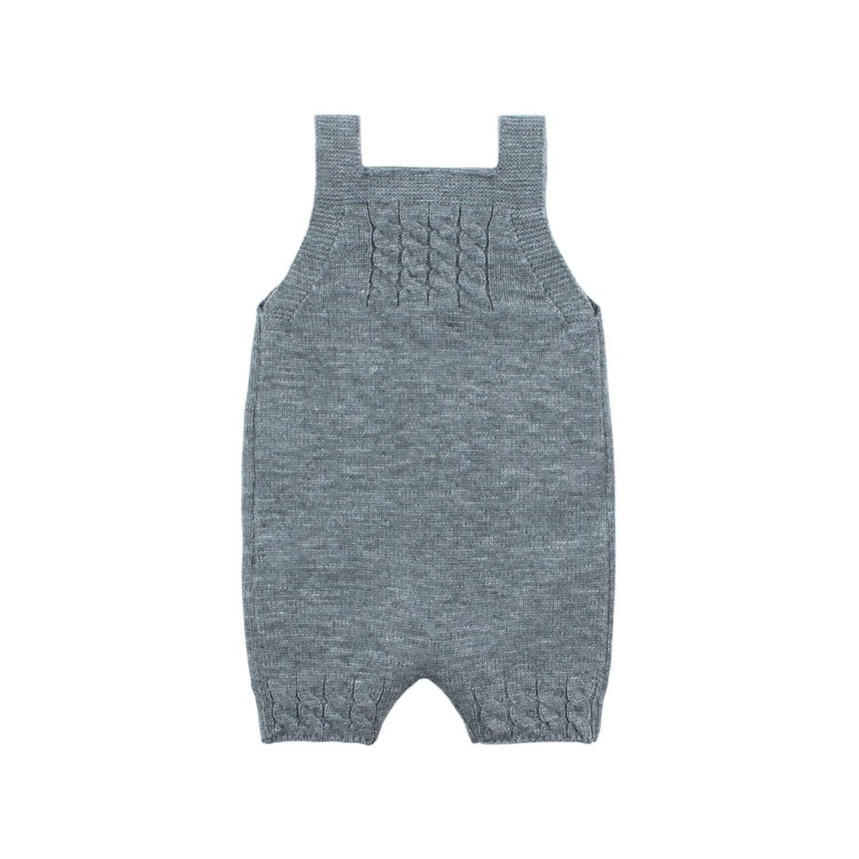 mimixiong b/éb/é gar/çon Barboteuse Jumpsuit tricot/é sans Manches Une pi/èce Tenues v/êtements