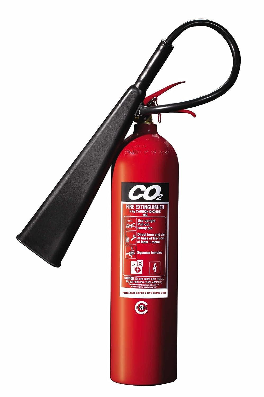 FSS UK Premium 5 kg CO2 Extintores. BSI –  Protector de con 5 añ os de garantí a. Ideal para casas KITCHEN lugar oficinas talleres almacenes garajes hoteles restaurantes. 89B nominal