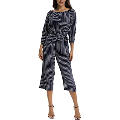 MISS MOLY Womens Long Sleeves Rompers,Off The Shoulder Jumpsuit,Summer Casual Short Rompers w Belt: Clothing