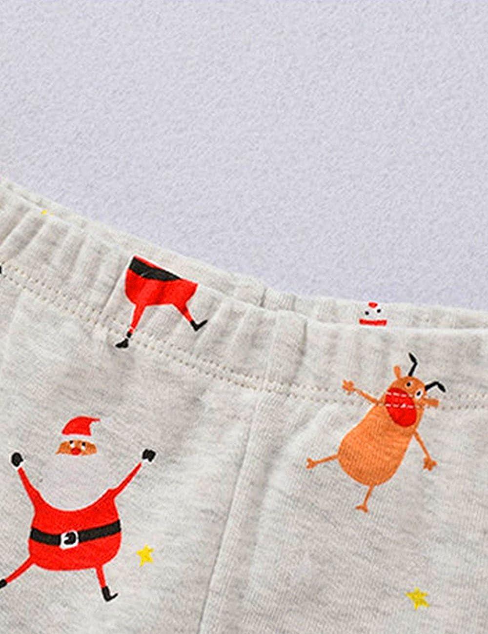 Christmas Boys Pajamas Cotton Toddler Pjs Sleepwear Kids Clothes Pant Set