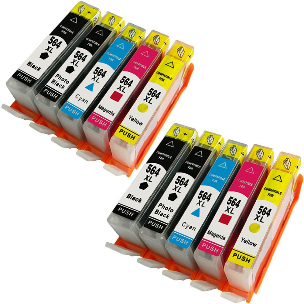 Colour-Store Compatible Ink Cartridge Replacement for HP 564 XL 5 Color, Compatible with HP Photosmart 5520 6520 7520 5510 6510 7510 7525 B8550 C6380 D7560 Premium C309A C410 10PK 2 Set