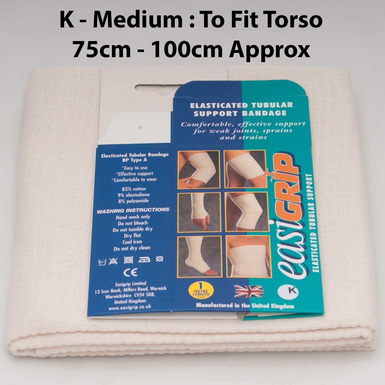 Similaire /à Tubigrip K easiGRIP Bandage tubulaire pour torse Taille K 1//2 m Fabriqu/é au Royaume-Uni