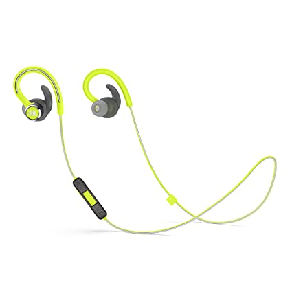 79762e92894 Amazon.com: JBL Reflect Contour 2 Wireless Sport in-Ear Headphones with  Three-Button Remote and Microphone - Green: Home Audio & Theater