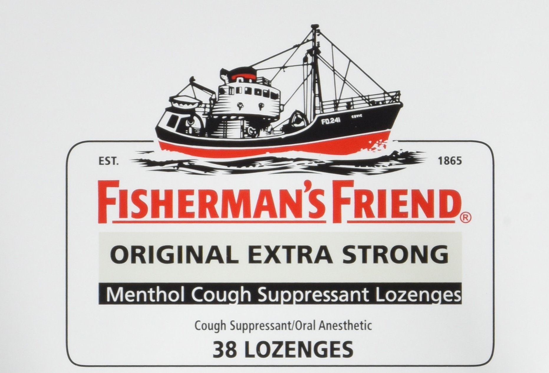 Cough Drops by Fisherman's Friend, Cough Suppressant and Sore Throat Lozenges, Original Extra Strong Menthol Flavor, 38 Count (6 Pack) by Fisherman's Friend