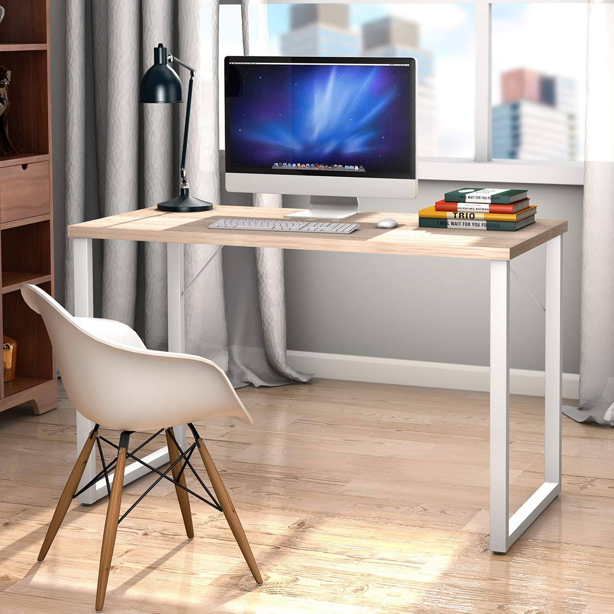Tangkula 47 Computer Desk Writing Table, PC Laptop Office Desk, Study Writing Modern Table, Modern Simple Writing Desk, Multipurpose Workstation for Home and Office, Gaming Computer Desk
