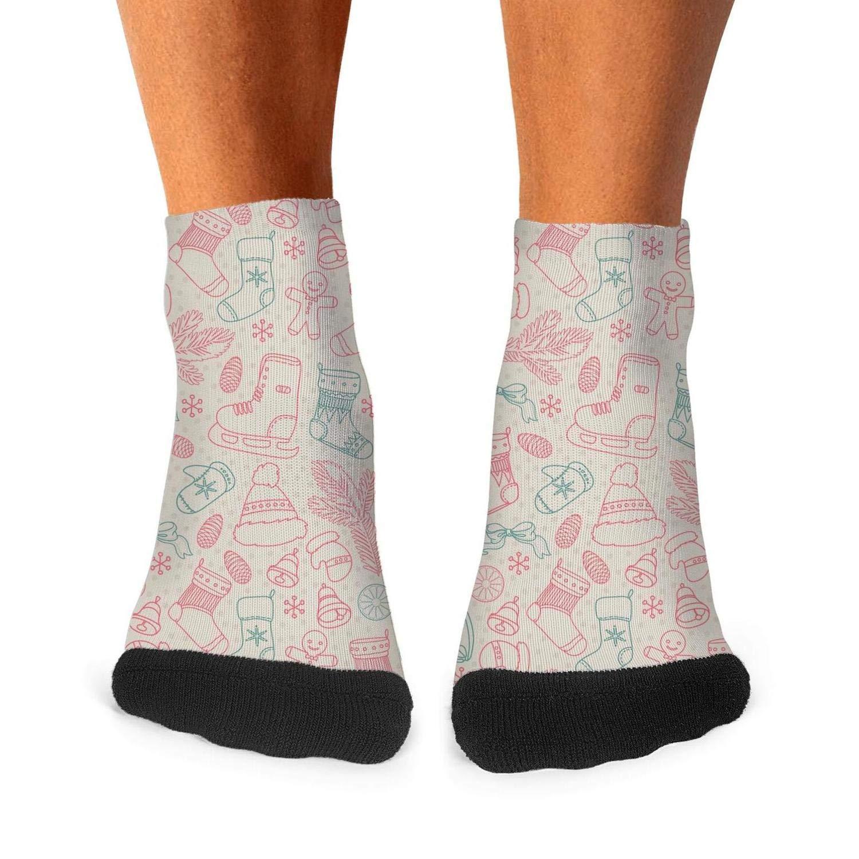 Floowyerion Mens New year and winter holidays christmas Novelty Sports Socks Crazy Funny Crew Tube Socks