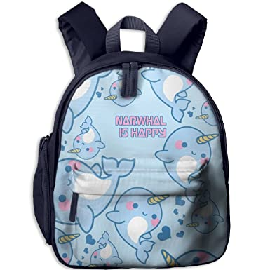 Amazon.com   Narwhal Is Happy Cartoon 3D Print Boys Casual Backpack School  Bag   Kids  Backpacks 56e2c18726