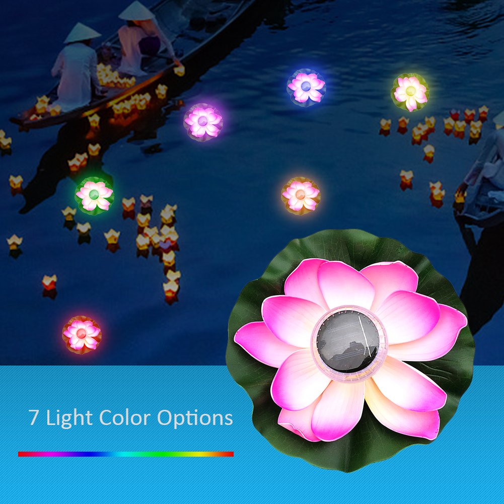 Led Underwater Lights Sunny High Quality Led Artificial Lotus Colorful Changed Floating Flower Lamps Water Swimming Pool Wishing Light Lanterns Party Supply
