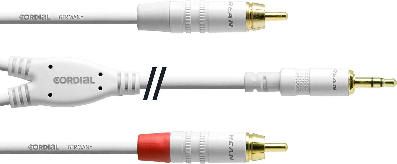 Cordial Y Kabel Stereo 2 Rca Miniklinkenkabel 1 5 M Weiß Musikinstrumente