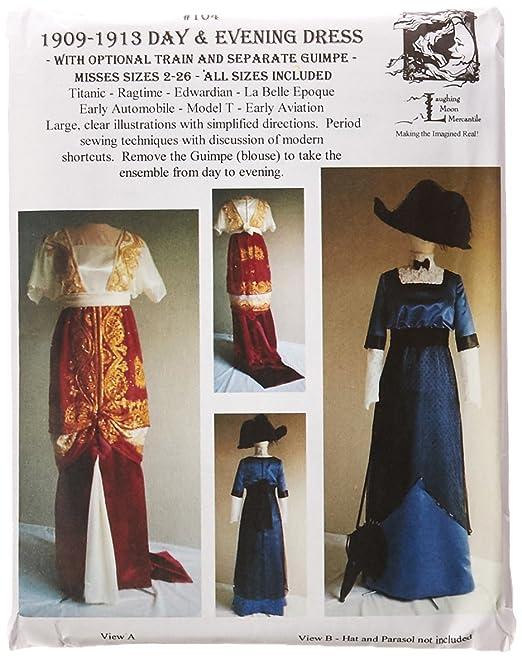 Titanic Edwardian Sewing Patterns- Dresses, Blouses, Corsets, Costumes Titanic Era Dress Pattern $18.00 AT vintagedancer.com