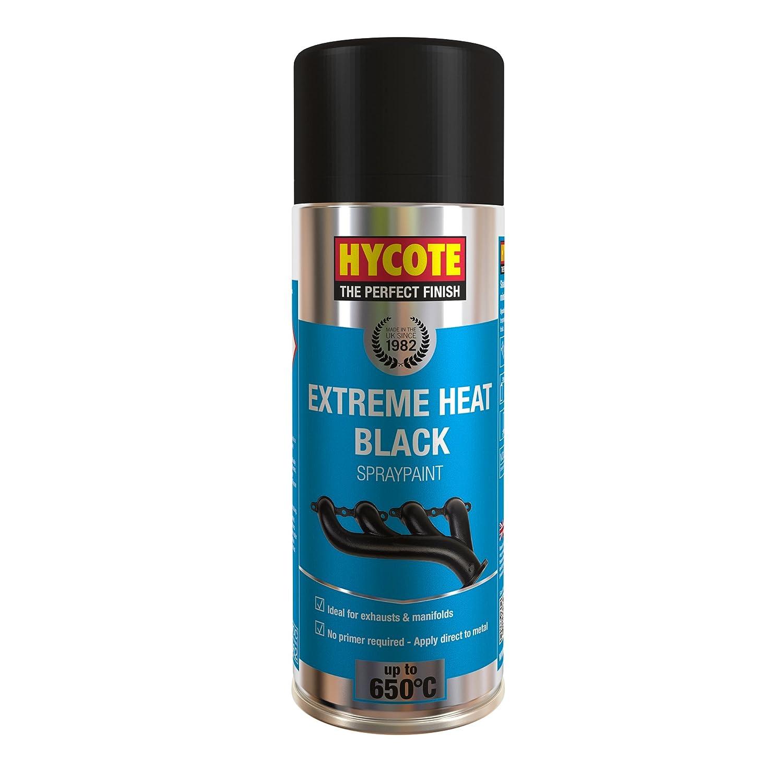 HYCOTE xuk1001muy alta temperatura aerosol pintura en aerosol (400ml), color negro