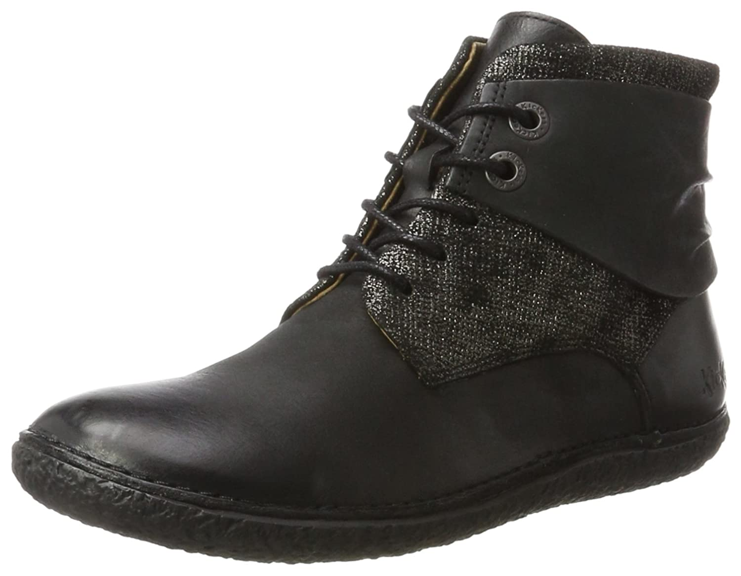 Kickers Brillant) Hobylow, Bottines Bottines Noir Classiques Femme Noir (Noir Brillant) 15c1a28 - latesttechnology.space
