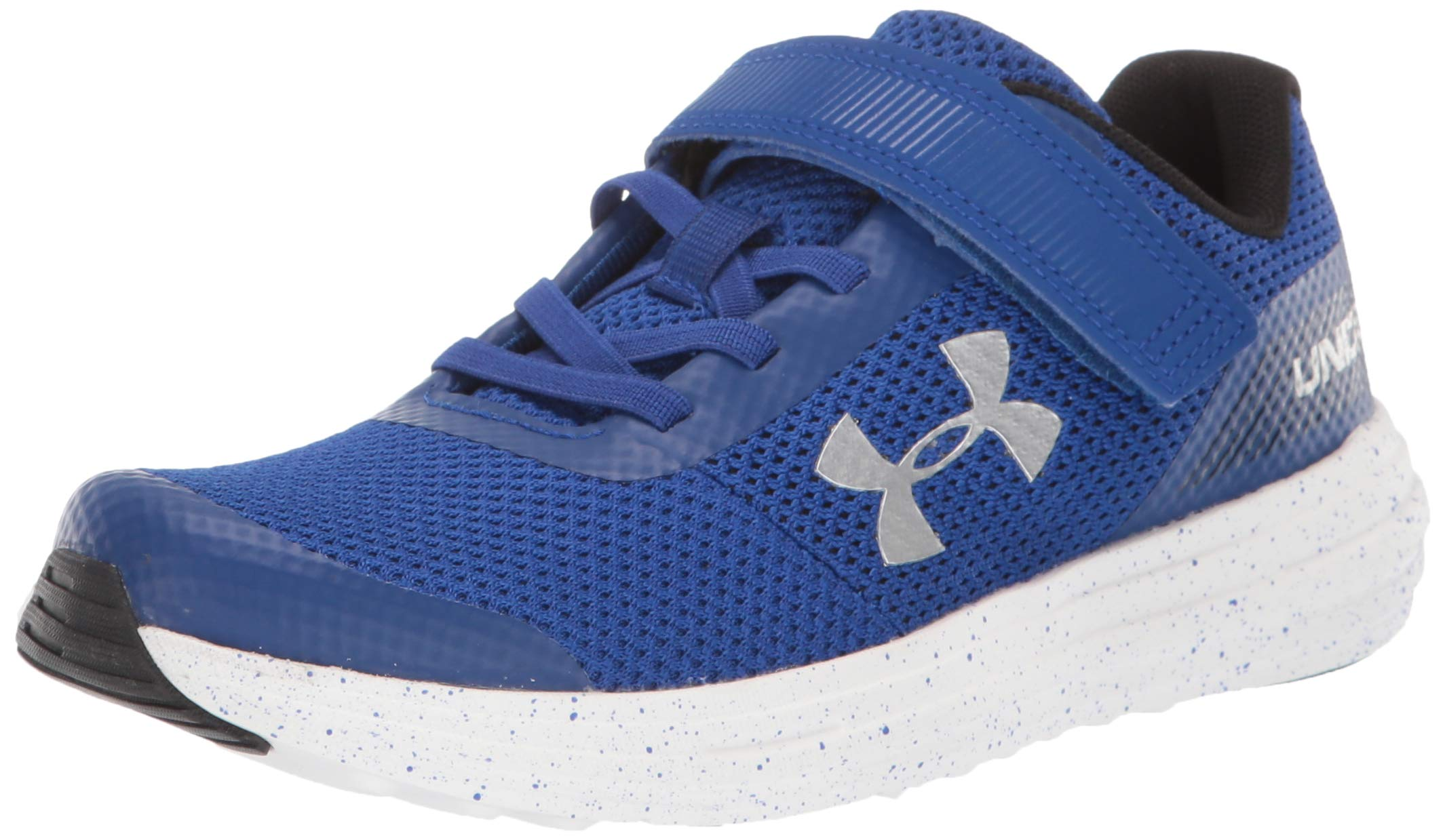 Under Armour Boys' Pre School Surge RN Alternate Closure Sneaker, Royal (404)/White, 1