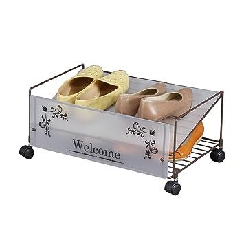 Amazon|川口工器 おしゃれな 靴箱下 収納 シューズラック (幅